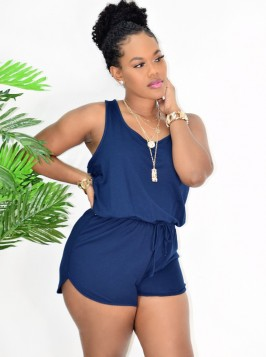 LOUNGE DAY PULL STRING ROMPER