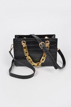 Faux Croc Chain Handle Bag