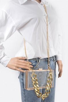 Transparent Case Clutch W/Oversized Chain