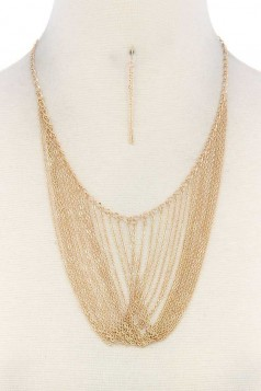 METAL LAYERED NECKLACE GOLD