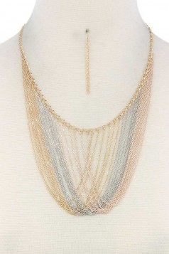 METAL LAYERED NECKLACE MULTI