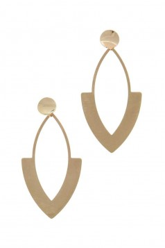 POINTED OVAL POST DROP EARRING