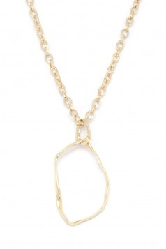 ABSTRACT OVAL SHAPE PENDANT NECKLACE