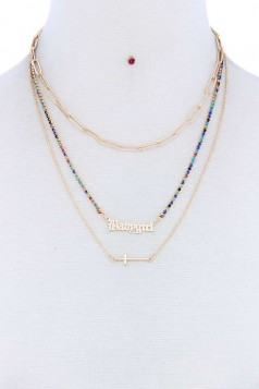 BABYGIRL LAYERED METAL NECKLACE