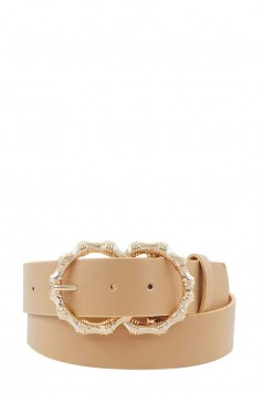 STYLISH CHIC BUCKLE BELT BEIGE