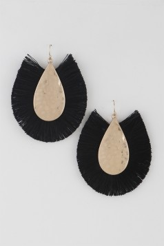 Water Drop Fringe Earrings