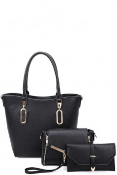 3IN1 MODERN TOTE AND CLUTCH SET