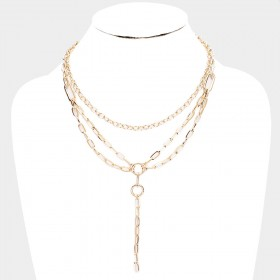 2PCS - METAL CHAIN LINK LAYERED NECKLACE