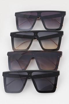 Unique Frame Shield Sunglasses