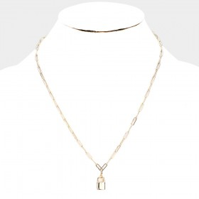 MASTER LOCK METAL CHAIN NECKLACE