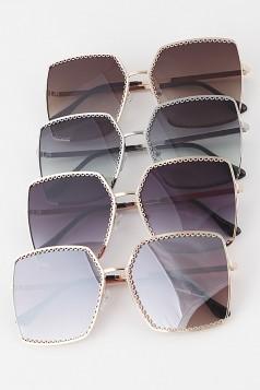 Gold Rimmed Aviator Sunglasses