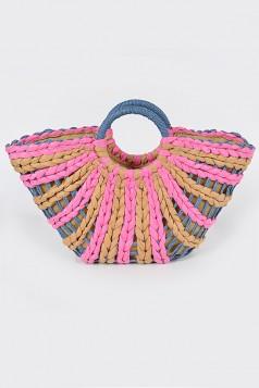 Half Size Swirl Straw Bag