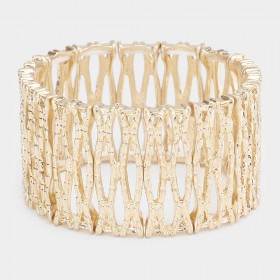 ABSTRACT METAL STRETCH BRACELET